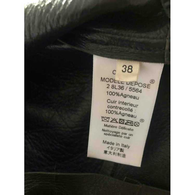 Celine Green Leather Leather jacket for Women 38 … - image 3