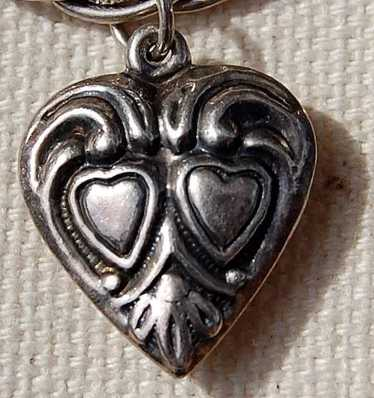 1940's Sterling Puffy Heart Charm