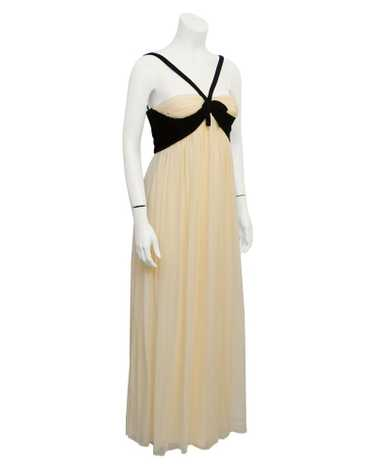 Sarmi Cream and black velvet gown