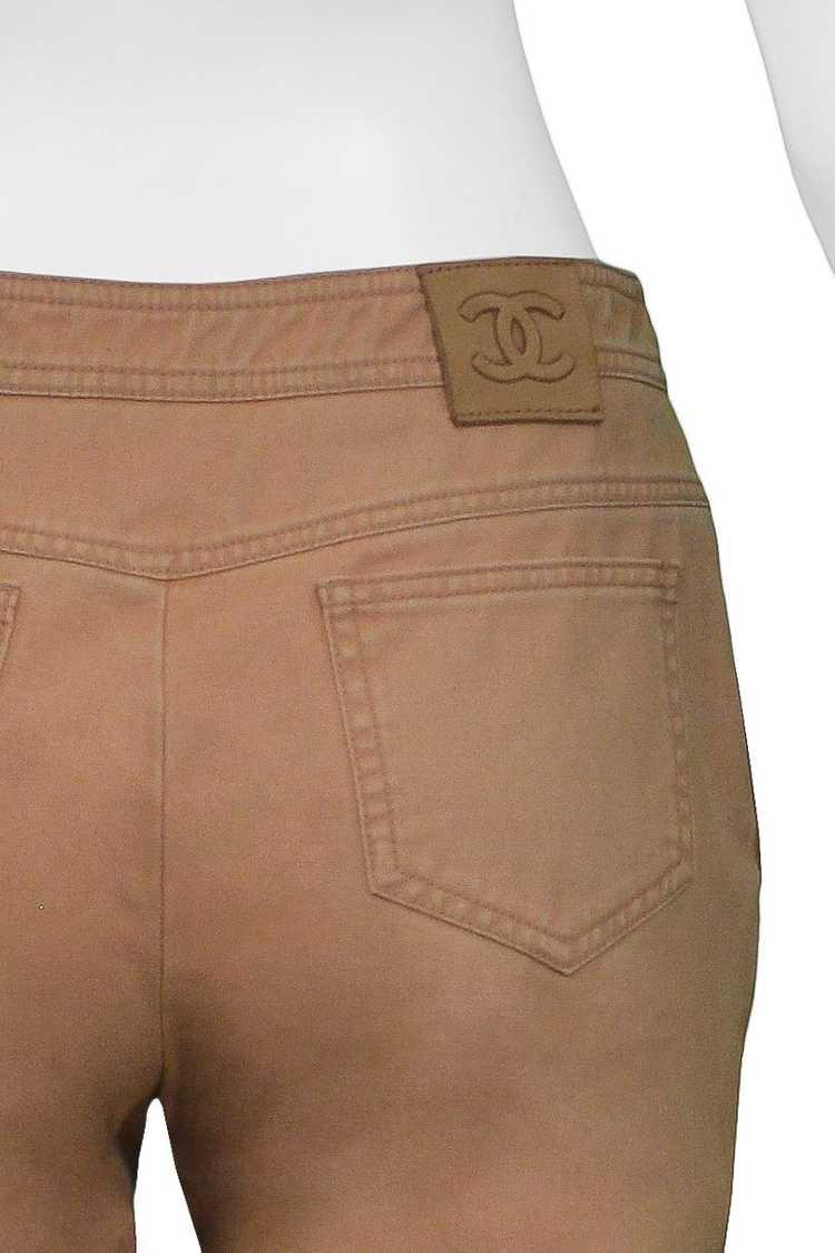 CHANEL KHAKI FLARED COTTON PANTS - image 2