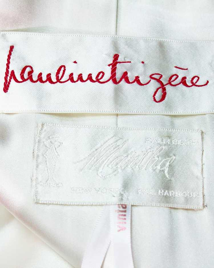 Pauline Trigere Red gown & coat ensemble - image 5