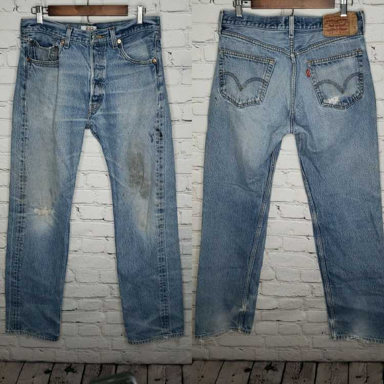 Levi's Vintage Clothing 501 High Rise Distressed … - image 1