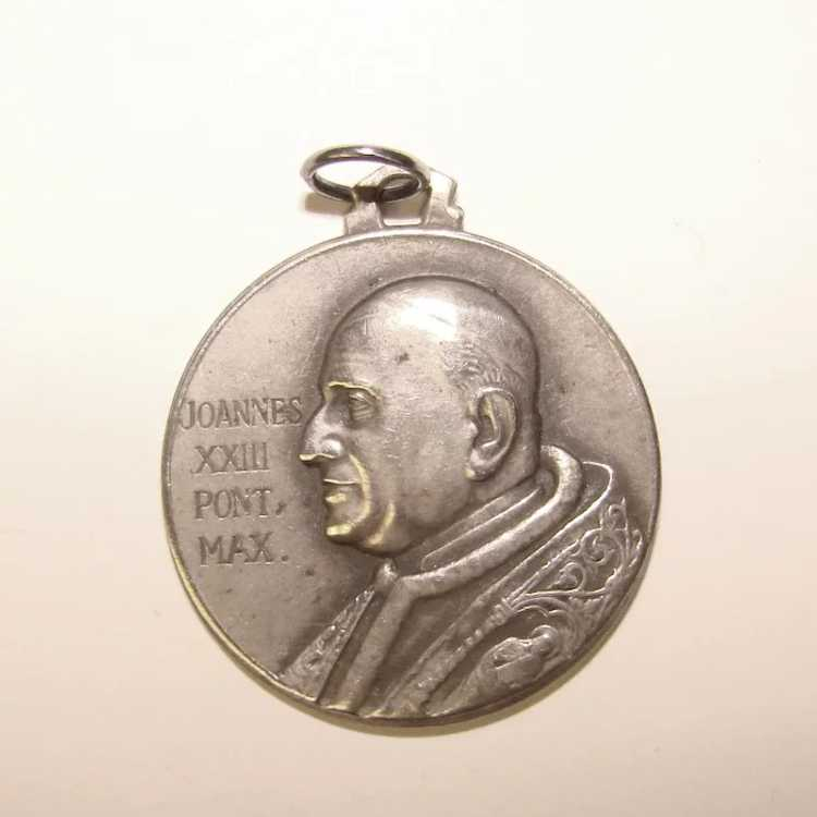 Awesome 800 Silver St. Christopher Medal Pendant … - image 2