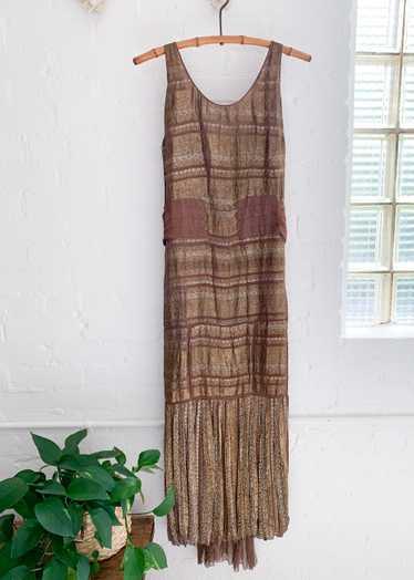 Vintage 1930s Lamé Evening Dress