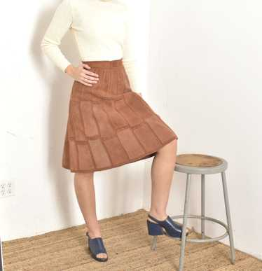 1970s Patchwork Suede Skirt-small