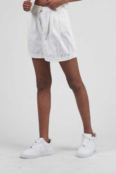 Vintage 90's High Waisted White Corduroy Shorts