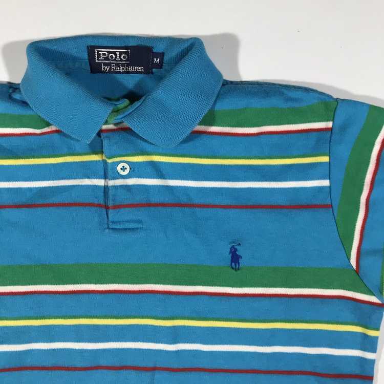 80s Polo ralph lauren striped polo S/M - image 2