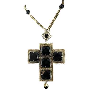Joseff of Hollywood Large Cross Necklace