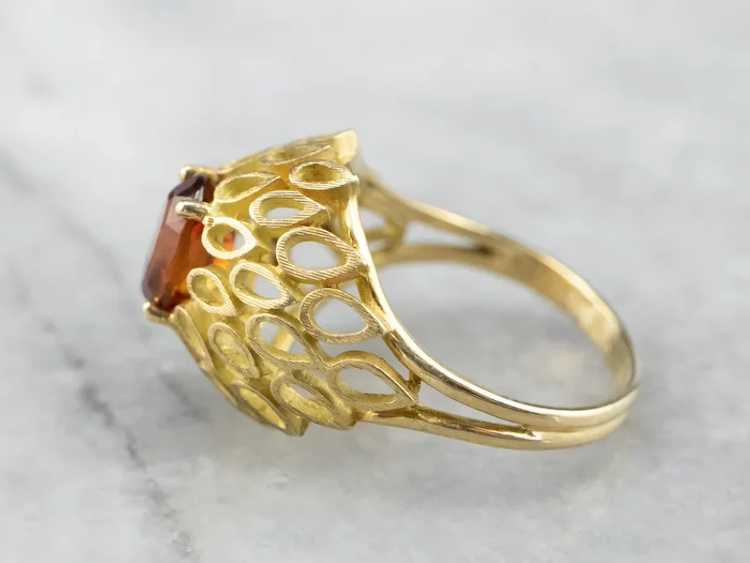 Funky Citrine Statement Ring - image 4