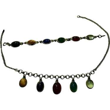 Egyptian Revival Necklace and Bracelet