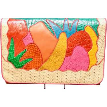 Vintage Sharif Scenic Pieced Leather Bag