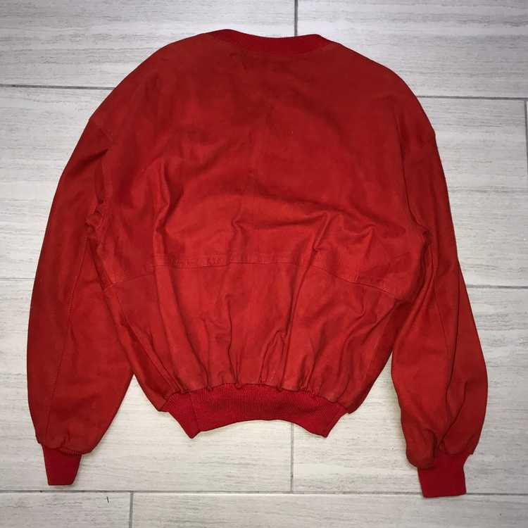 Italian Designers × Vintage Red Leather Crewneck … - image 5