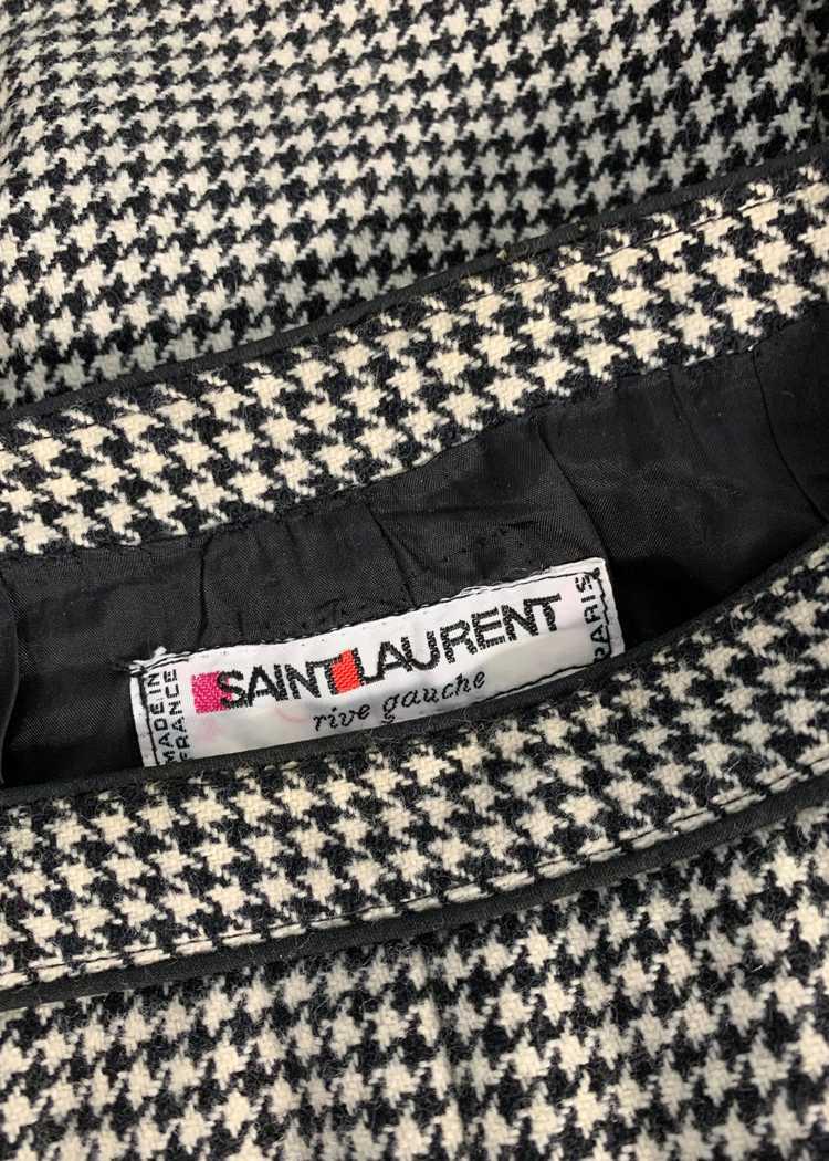 Vintage 1970s Yves Saint Laurent Houndstooth Skirt - image 7