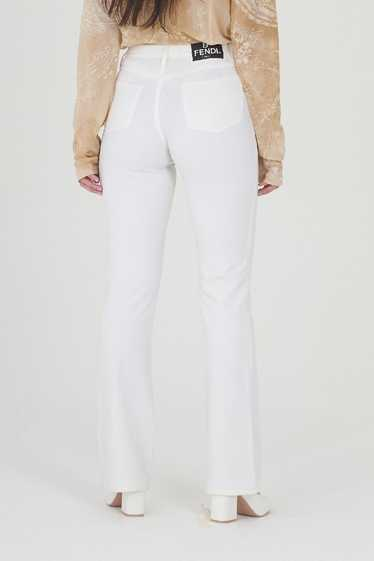 Vintage Deadstock Vintage 90's Fendi White Jeans