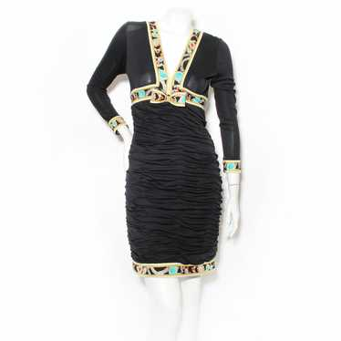 Vintage Leonard Jersey Gathered Dress