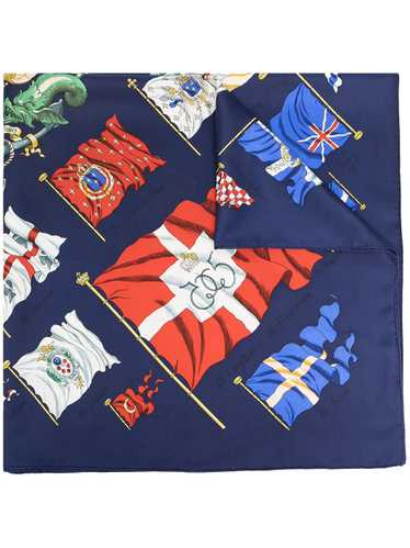 Hermès pre-owned Pavois silk scarf - Blue