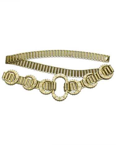 Gold link belt