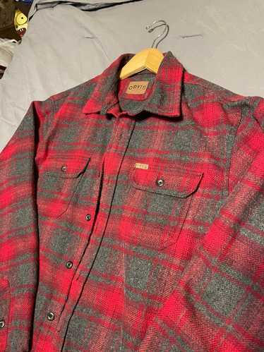 Orvis × Vintage 90's Super thick red plaid flannel