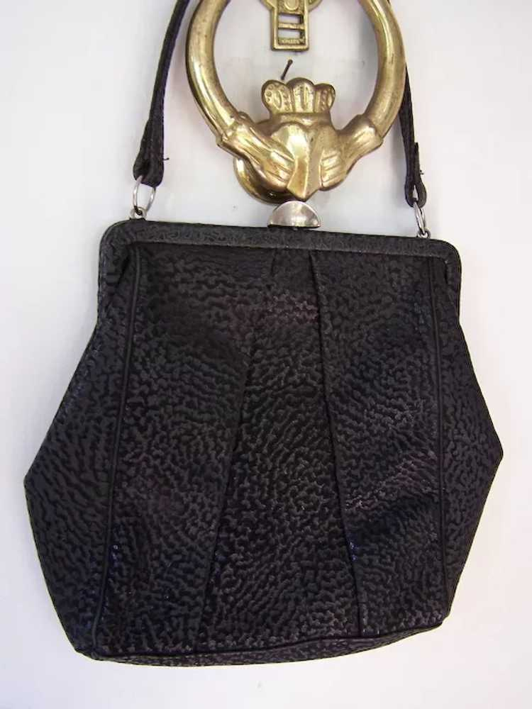 Town and Country Black Leather Handbag - image 1