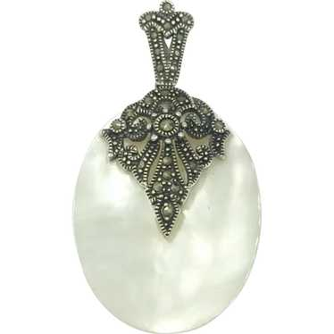 Marcasite Mother of Pearl Sterling Silver Pendant