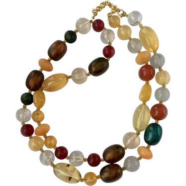 Faux Fruit and Berry Necklace: Joan Rivers