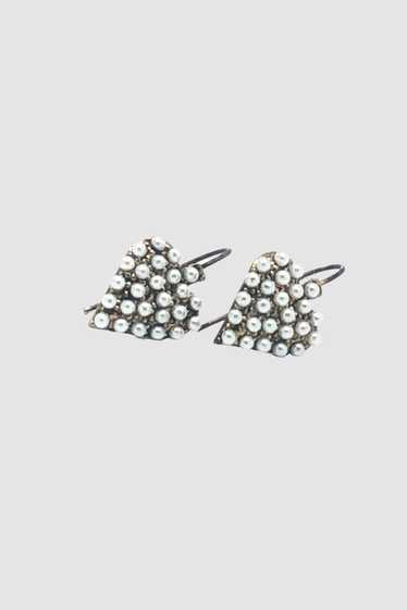 Vintage Pearl Heart Shape Earrings