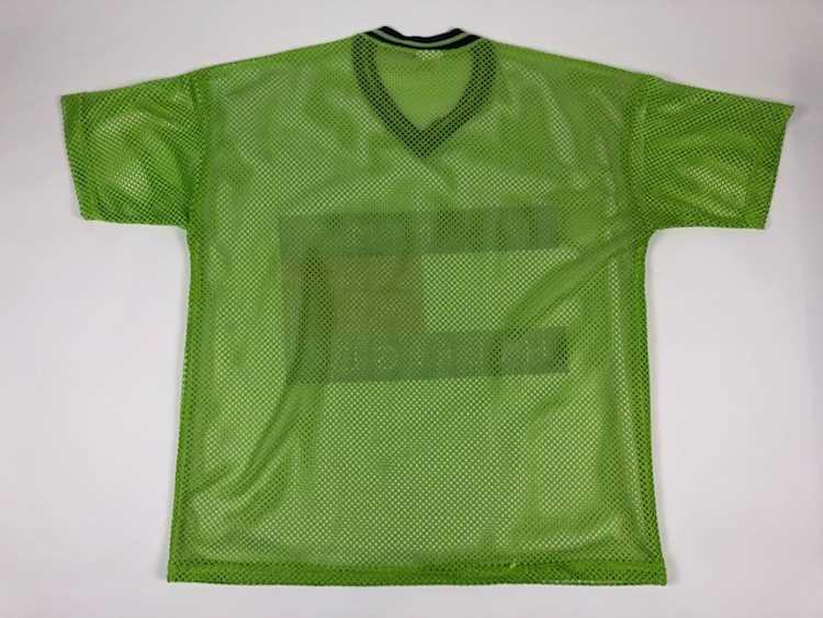 Vintage Tommy Hilfiger Flag Mesh Jersey Green Shi… - image 6