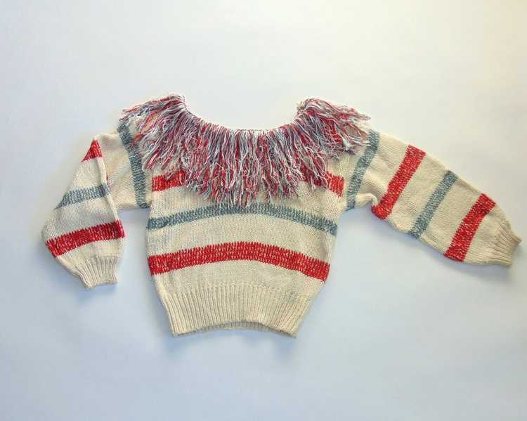 1970s Fringe Sweater by Bonnie & Bill - image 1