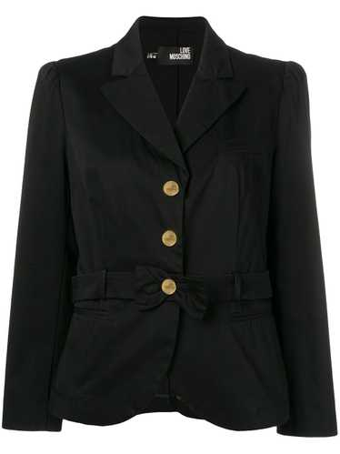 Moschino Pre-Owned 2000's bow detail jacket - Blac