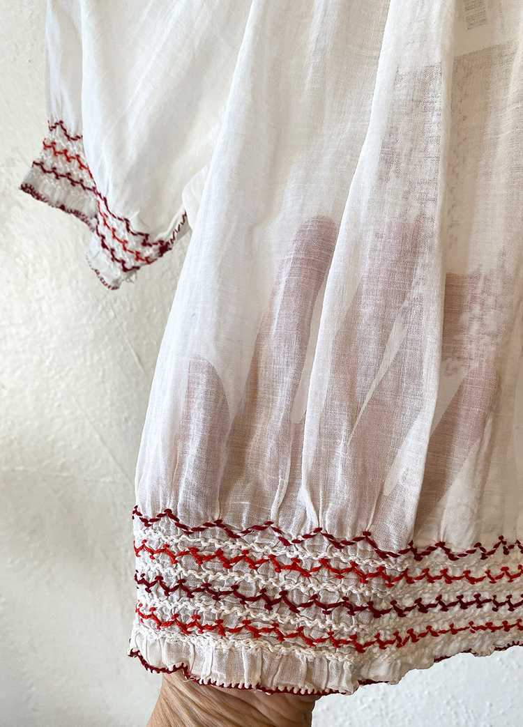 1930's Hungarian Embroidered Blouse - image 5