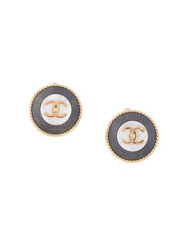 Chanel Pre-Owned 1996 CC button clip-on earrings … - image 1