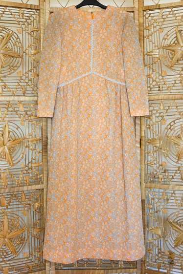 Floral Metallic Maxi Dress