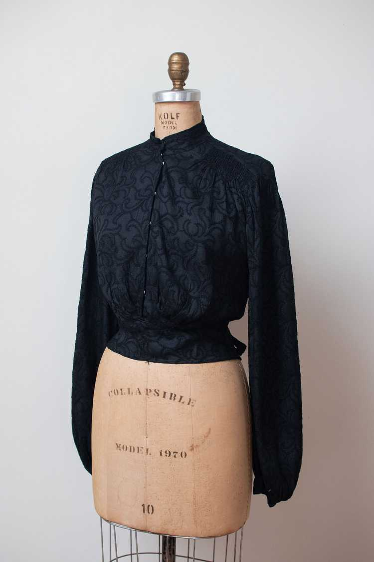 Antique Embroidered Blouse - image 8
