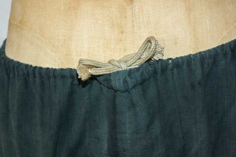 1930s 40s Japanese Linen Patched Workwear Shorts - image 2