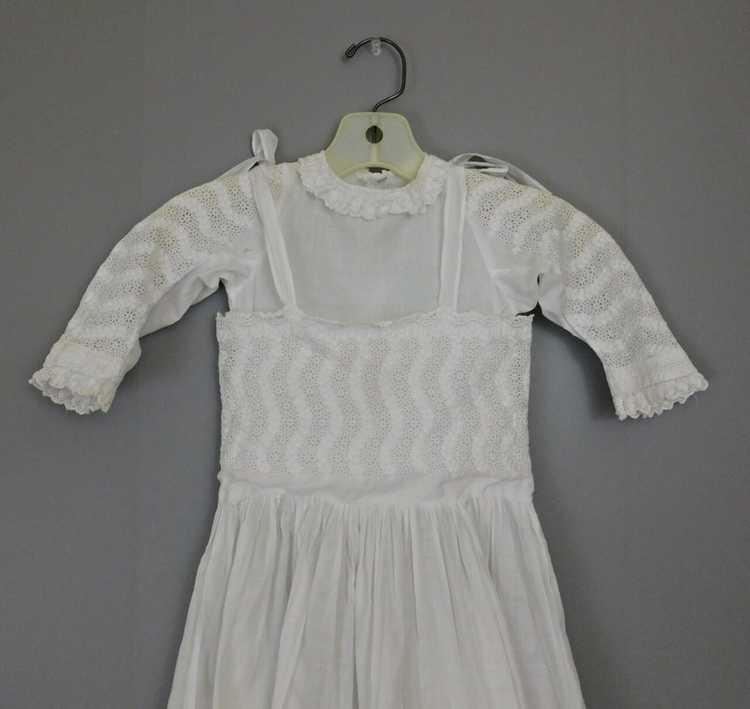 Antique Edwardian Little Girl Dress, Embroidered … - image 4