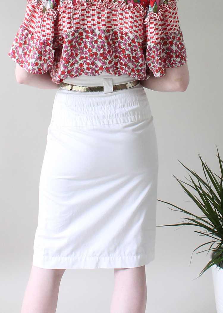 Vintage 1980s YSL White Skirt - image 4