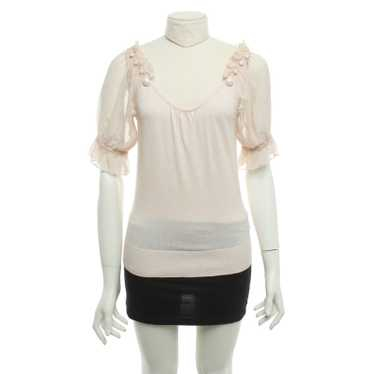 French Connection top with puffed sleeves