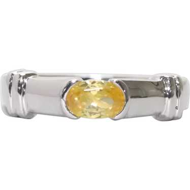 Sterling Silver Yellow Citrine Ring