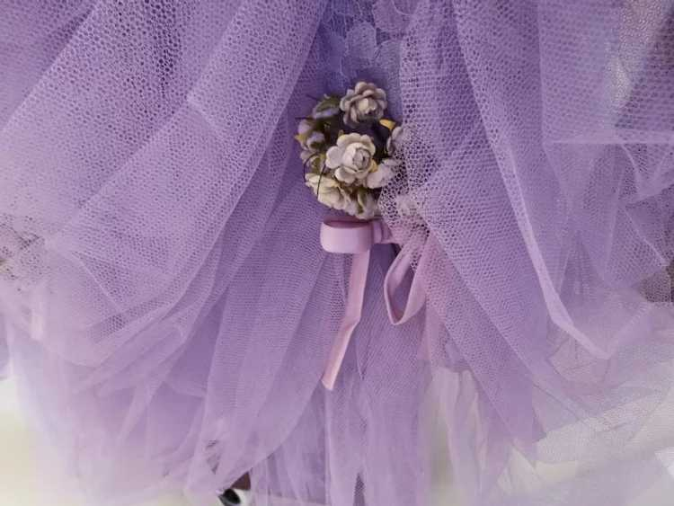 Vintage 1940s Gown // Lavender Gown// Strapless G… - image 3