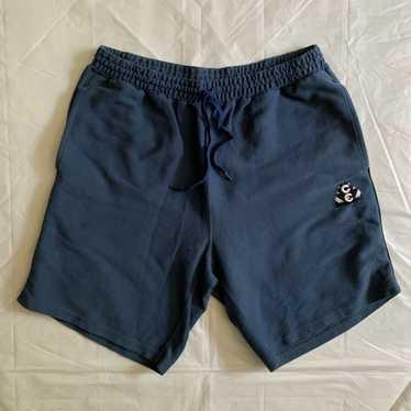 2010s Cav Empt Faded Blue Cotton Sweatshorts - Siz