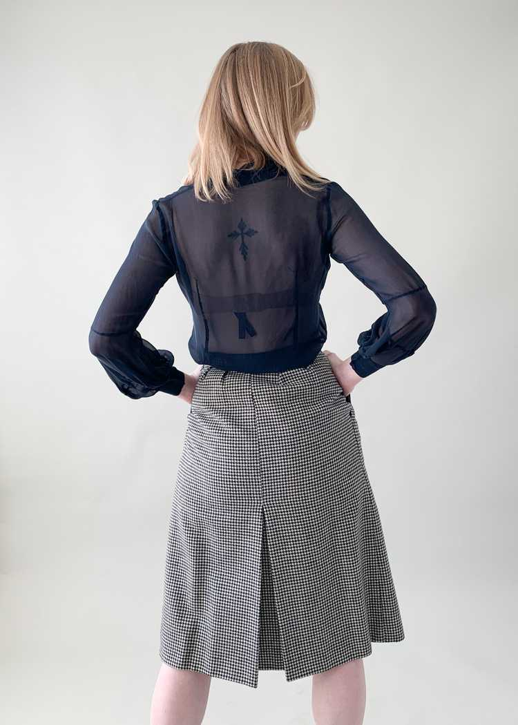 Vintage 1970s Yves Saint Laurent Houndstooth Skirt - image 6
