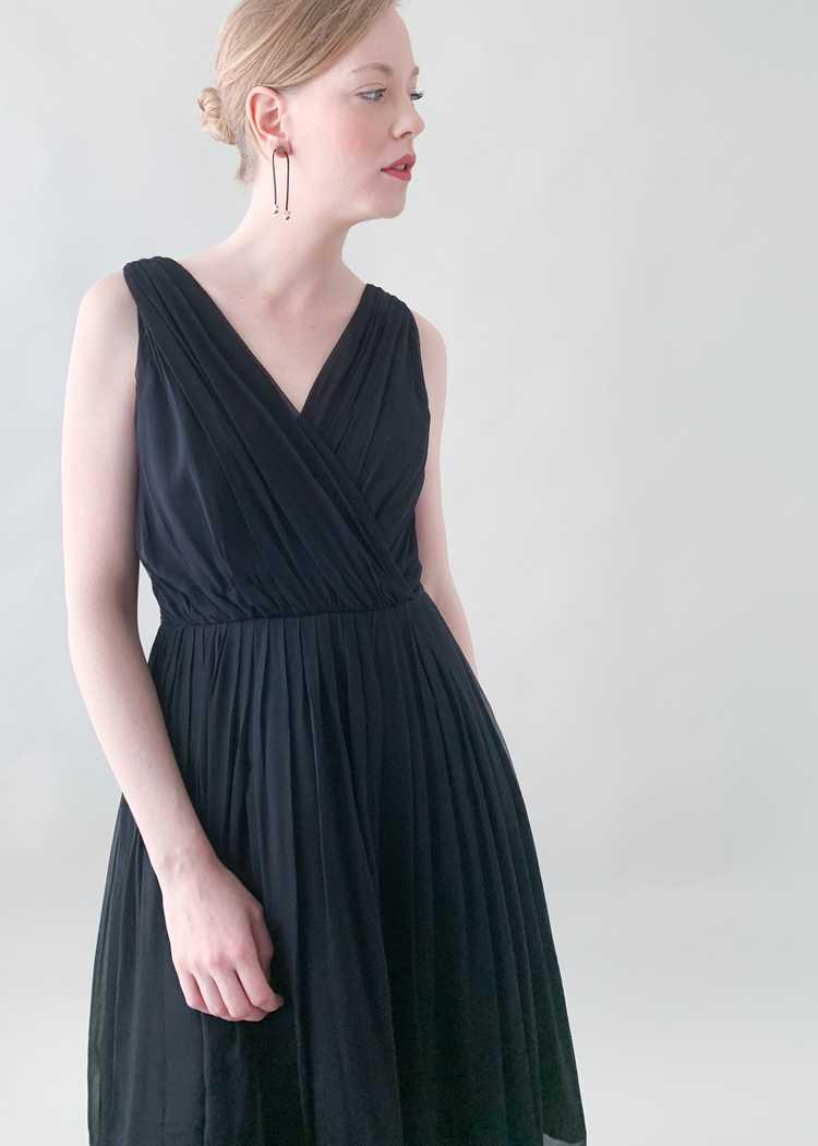 Vintage 1950s Gigi Young Black Chiffon Dress - image 2