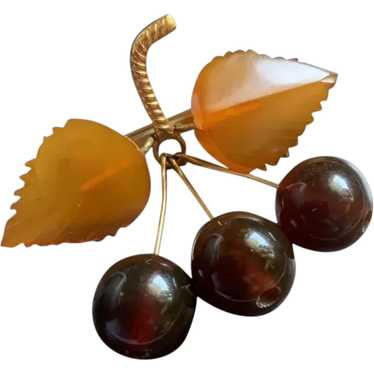 Gorgeous Vintage Russian Natural Amber Cherries An