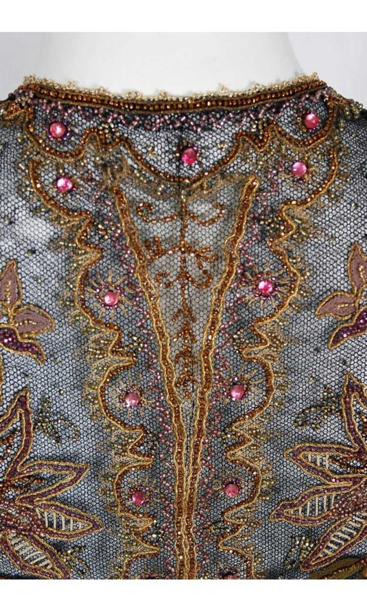 1910 Edwardian Antique Embroidered Beaded Floral … - image 7