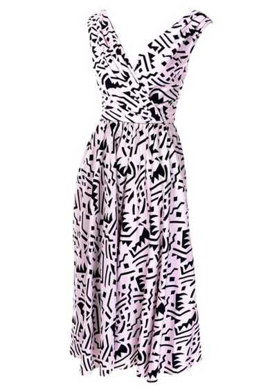 1980s Lillie Rubin Vintage Dress w/ Pink & Black G