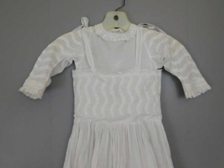 Antique Edwardian Little Girl Dress, Embroidered … - image 8
