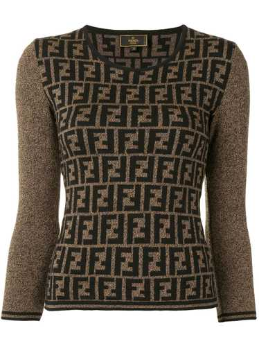 Fendi Pre-Owned Zucca pattern knitted top - Brown