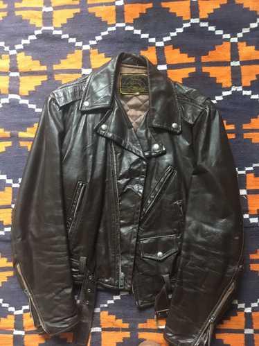 Vintage Vintage Black Punk Biker Leather Jacket