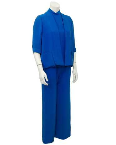 Norman Norell Blue Silk 3 pc. Ensemble