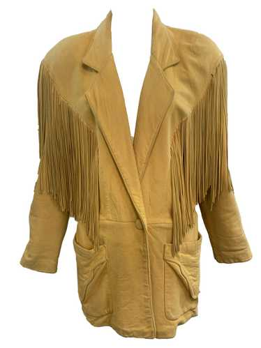 Continental 80s Leather Fringed Oversized Distress